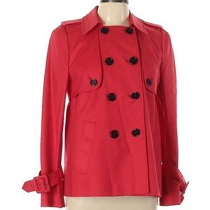 LK Bennett Red Short Mac / Trench Coat